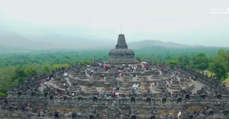 Candi Borobudur di Jawa Tengah./foto: instagram kemenparekraf.ri