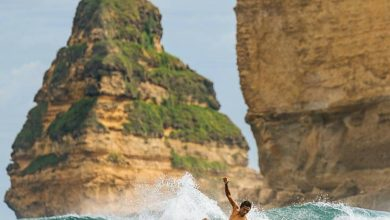 Surfing di Pantai Gerupuk di Lombok, NTB./foto: instagram lombokuniktravel