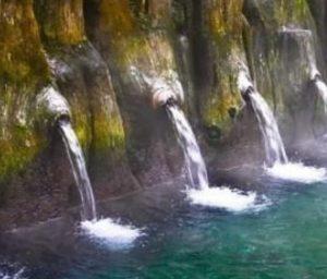 Pemandian air panas Guci di Tegal, Jawa Tengah./instagram asmuikammuri