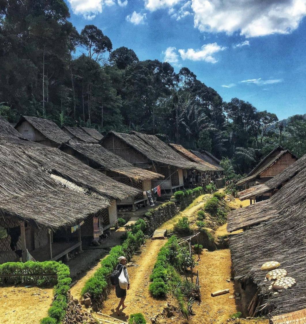 Permukiman warga Baduy, Lebak, Banten./foto: instagram panorama_banten