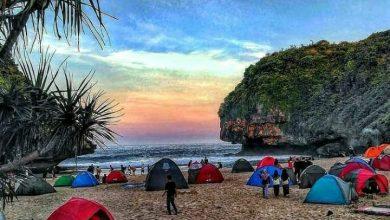 Camping di Pantai Greweng / Foto : instagram @pantaigreweng