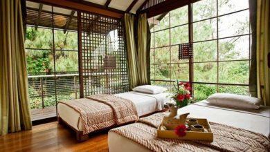 Kamar tidur di Vila Air Natural Resort di Bandung./foto: instagram vilaairnaturalresort