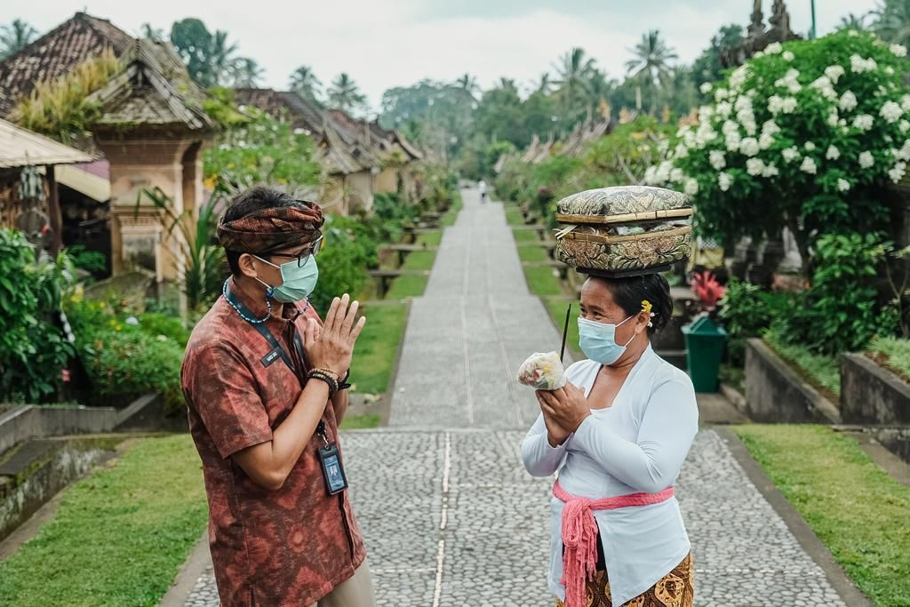 Menparekraf Sandiaga Uno di Desa Wisata Penglipuran, Bali