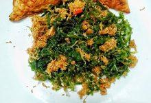 Urap Latoh khas Lasem, Rembang / Foto : cookpad.com